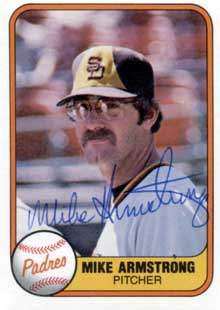 Mike Armstrong Autograph on a 1981 Fleer (#503)