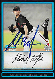 Mike Belfiore Autograph on a 2010 Bowman Baseball Card (#BDPP7)