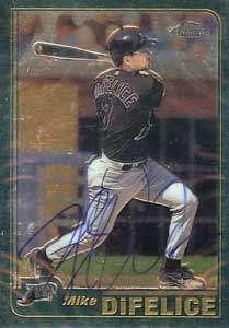Mike DiFelice Autograph on a 2001 Topps Chrome (#439)