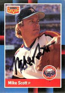 Mike Scott Autograph on a 1988 Donruss (#BC-12)