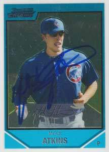 Mitch Atkins Autograph on a 2007 Bowman Chrome (#BC140)