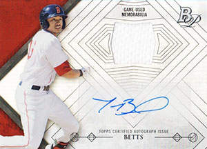 Mookie Betts Autograph on a 2014 Bowman Platinum Relic (#AR-MB)