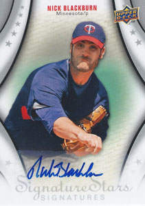 Nick Blackburn Autograph on a 2009 Upper Deck (#124)