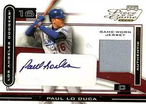Paul Lo Duca Autograph on a 2003 Playoff Piece of the Game (#POG-73)