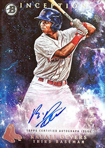 Rafael Devers Autograph on a 2016 Bowman Inception Baseball Card (#PA-RD)
