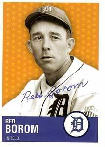 Red Borom Autograph on a Detroit Tigers Commemorative Card (#30)