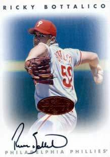 Ricky Bottalico Autograph on a 1996 Leaf Signature Series (Bronze)