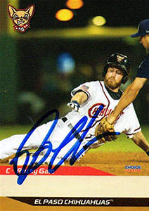Rocky Gale Autograph on a 2016 El Paso Chihuahuas Baseball Card