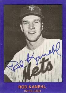 Rod Kanehl Autograph on a 1982 Mets Commemorative Card (#8)