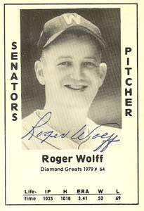 Roger Wolff Autograph on a 1979 Diamond Greats (#64)
