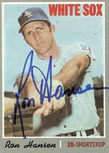 Ron Hansen Autograph on a 1970 Topps Baseball Card (#217 | <a href='../baseball_cards/baseball_cards_oneset.php?s=1970top01' title='1970 Topps Baseball Card Checklist'>Checklist</a>)