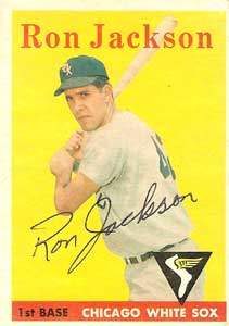 Ron Jackson Autograph on a 1958 Topps Baseball Card (#26 | <a href='../baseball_cards/baseball_cards_oneset.php?s=1958top01' title='1958 Topps Baseball Card Checklist'>Checklist</a>)