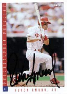 Ruben Amaro, Jr. Autograph on a 1993 Score (#341)