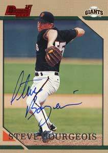 Steve Bourgeois Autograph on a 1996 Bowman (#230)