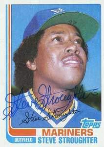 Steve Stroughter Autograph on a 1982 Topps Traded Baseball Card (#114T | <a href='../baseball_cards/baseball_cards_oneset.php?s=1982top02' title='1982 Topps Traded Baseball Card Checklist'>Checklist</a>)