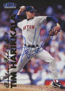 Tim Harikkala Autograph on a 1999 Fleer Tradition (#U-85)