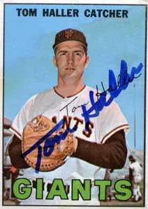 Tom Haller Autograph on a 1967 Topps (#65)