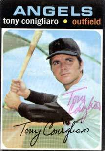 Tony Conigliaro Autograph on a 1971 Topps Baseball Card (#105)