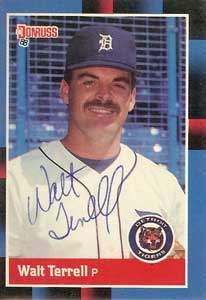 Walt Terrell Autograph on a 1988 Donruss (#91)