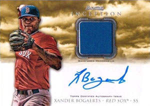 Xander Bogaerts Autograph on a 2013 Bowman Inception Baseball Card (#AR-XB)