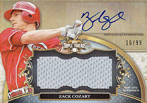 Zack Cozart Autograph on a 2013 Topps Triple Threads (#UAJR-ZC2)