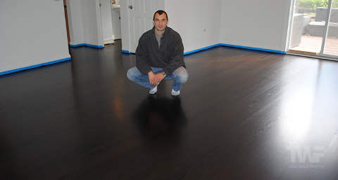 Dark Stained Hardwood Floor
