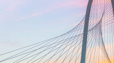 Dallas, Bridge in morning light