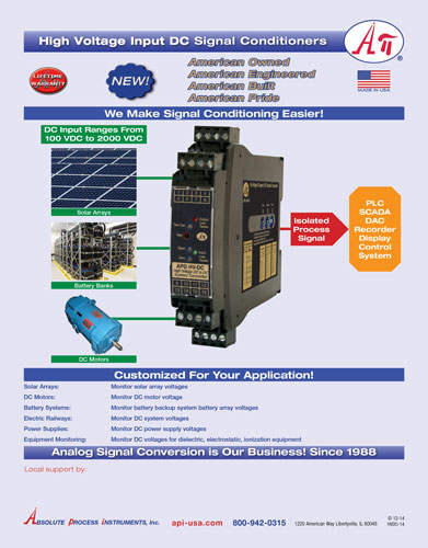 APD high voltage input signal conditioners