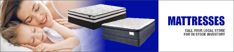 Call your local Rental City Store for Mattress inventory