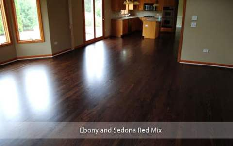 Ebony and Sedona Red Stain Mix