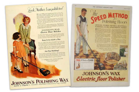 1926 Wax Polishing Ads