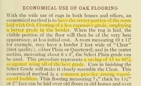 Economical Use of Oak Flooring