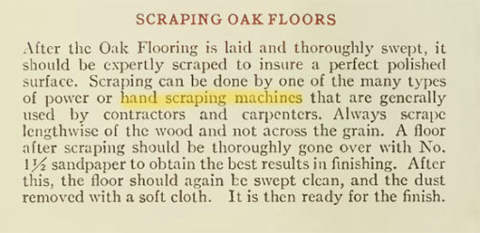 Scraping Oak Floors