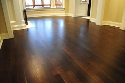 Spice Brown stain and fumed floor