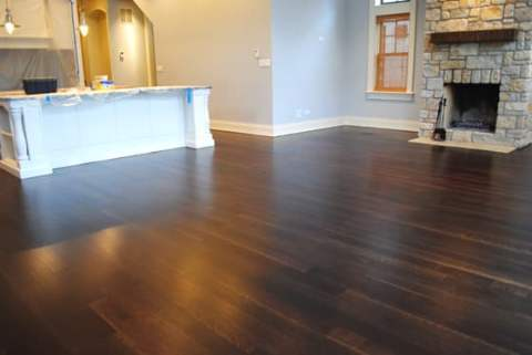 Kitchen wood floor with Spice Brown stain