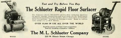 July-1915 vintage floor sander ad