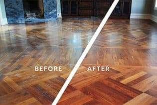 Clean and Re-coat Wood Floors in Lemont, Il
