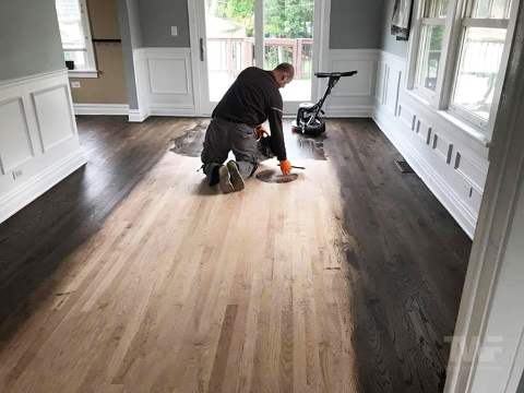 Buffing Stain on Wood Floor