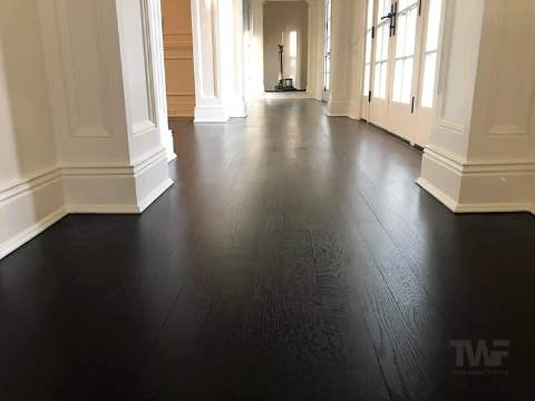 Dark black stained Oak