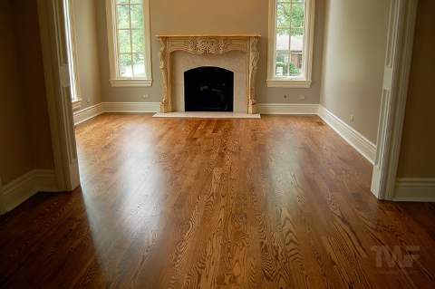 Early American Stained Oak Floors