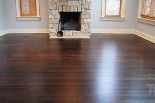 Spice Brown Stained and Fumed Floor