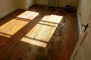 Naperville hardwood floor refinishing Before