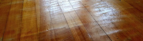 Bad sanding job by unskilled floor company