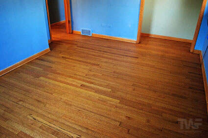 Hardwax Oil hardwood floor in bedroom