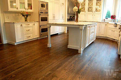 Red oak hardwood floor with OSMO Ebony
