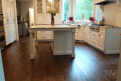 Kitchen in Glen Ellyn with Ebony OSMO