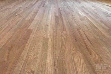 Hardwax oil on red oak in Naperville living room