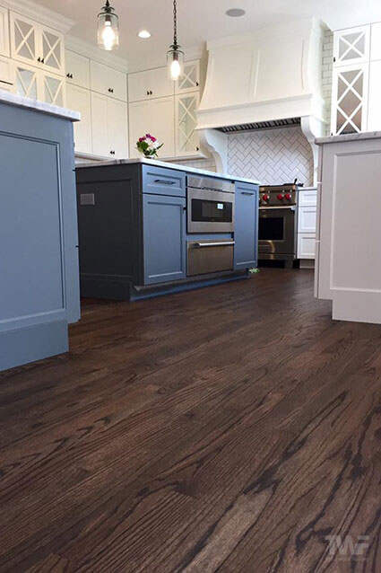 Rubio Monocoat Black kitchen floor in Naperville
