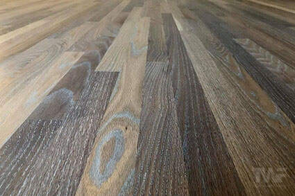 Fumed and 5% white Rubio Monocoat floor