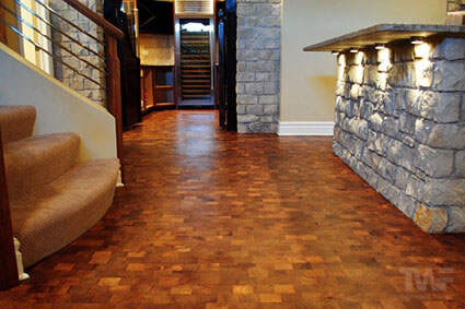 Mesquite wood floor with OSMO